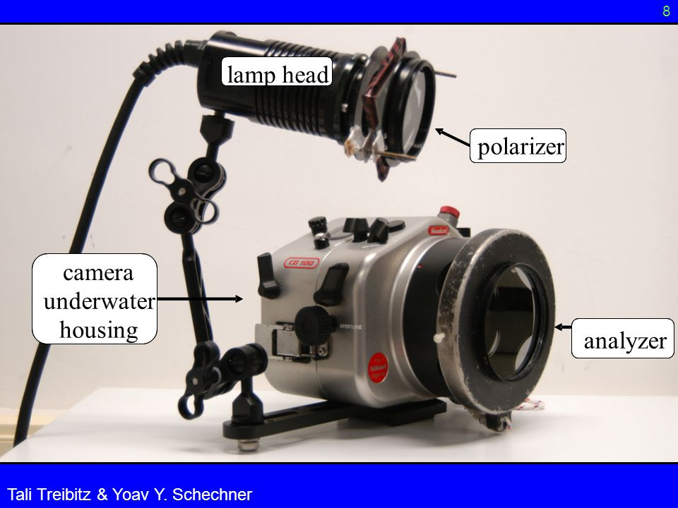 polarizer analyzer lamp head camera underwater housing 8 Tali Treibitz & Yoav Y. Schechner