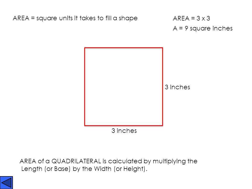 PERIMETER of any shape is calculated by adding the sides together.