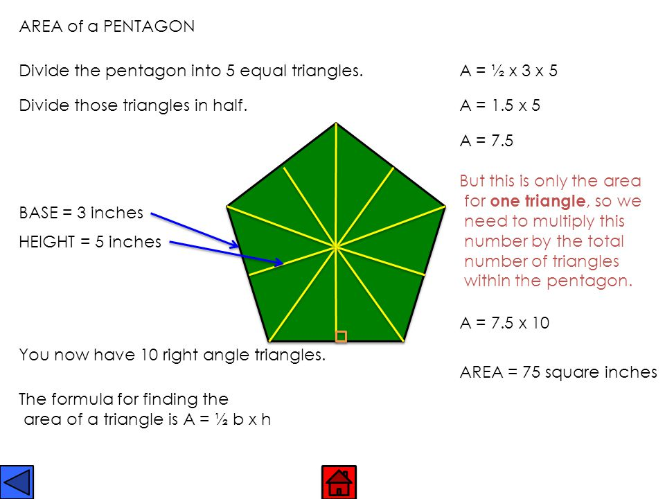 PENTAGON No parallel sides.All 5 sides can be equal, but they don't have to be.