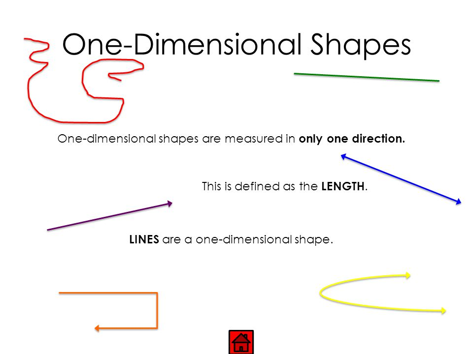 READY TO LEARN ABOUT… One-dimensional shapes.Two-dimensional shapes.