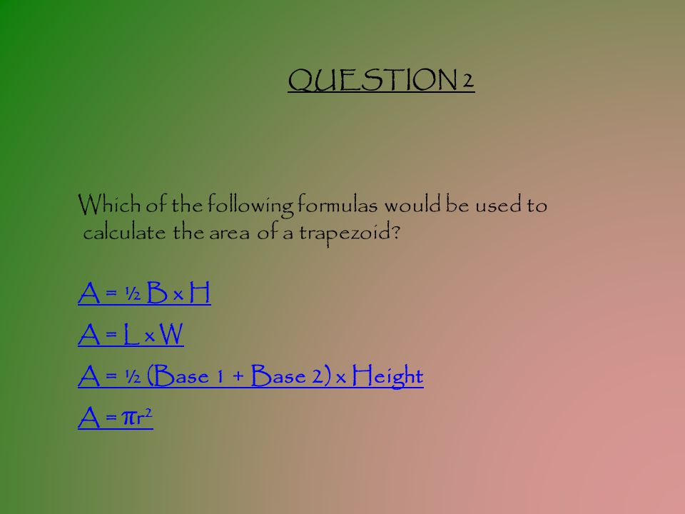 TEST YOUR KNOWLEDGE OF SHAPES QUESTION 1 How many dimensions does a line have.