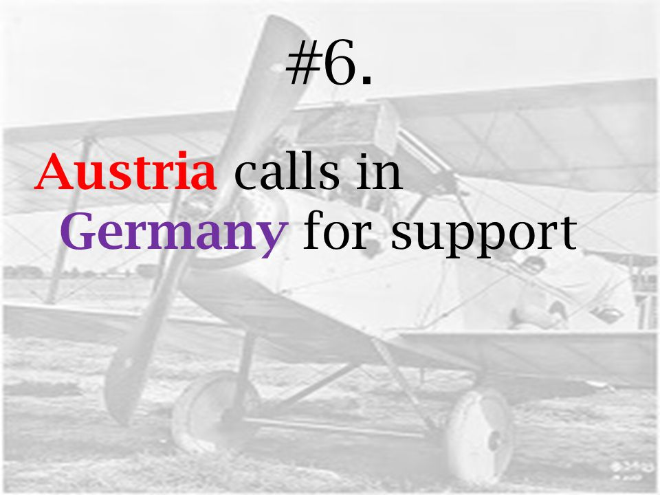 #6. Austria calls in Germany for support