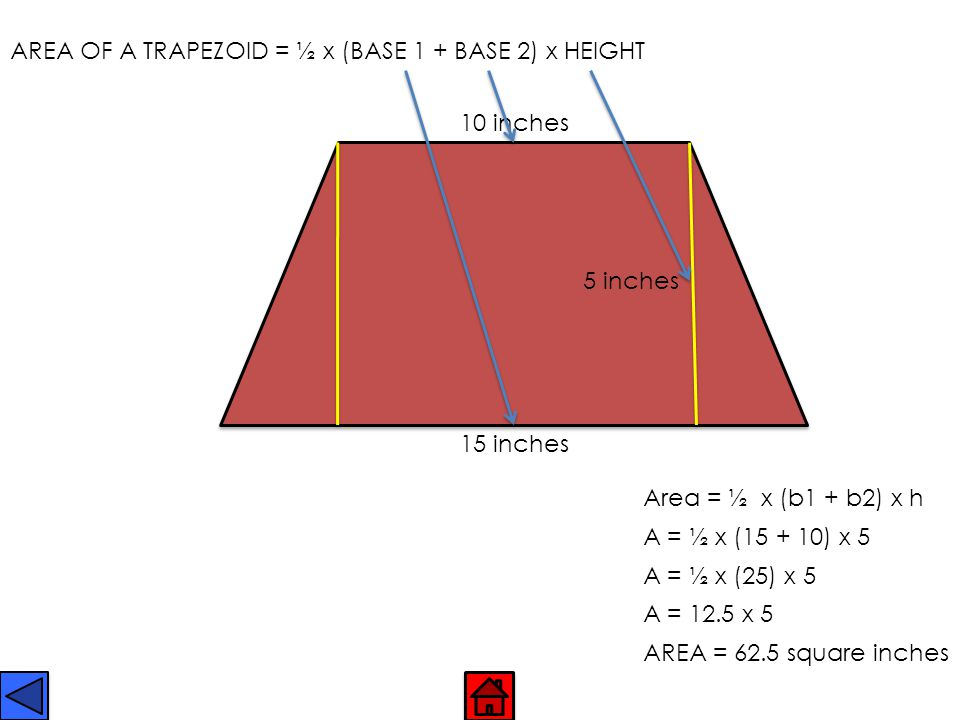 TRAPEZOID Has one pair of parallel sides.