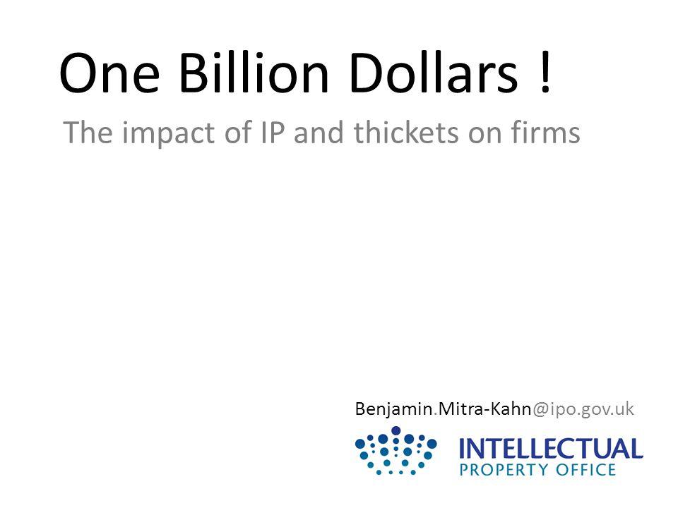 One Billion Dollars !
