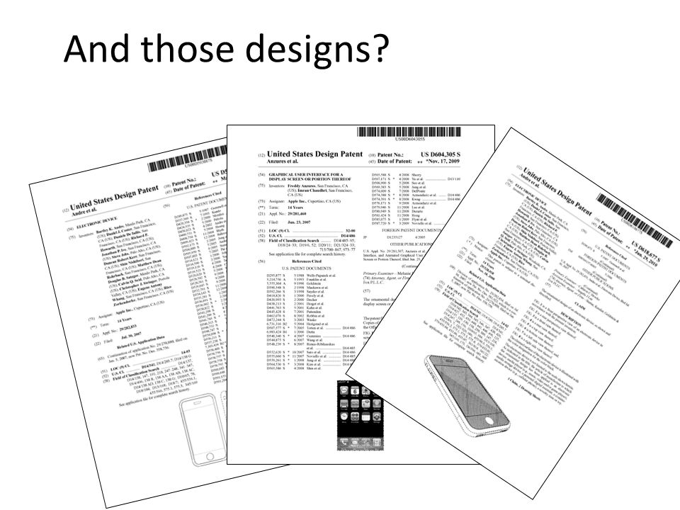 And those designs?