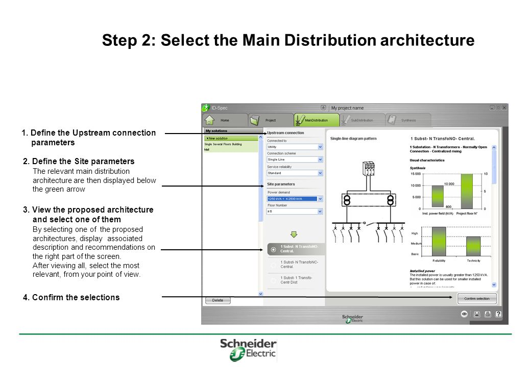 Step 2: Select the Main Distribution architecture 1.