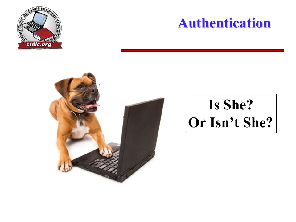 Authentication Is She Or Isn't She