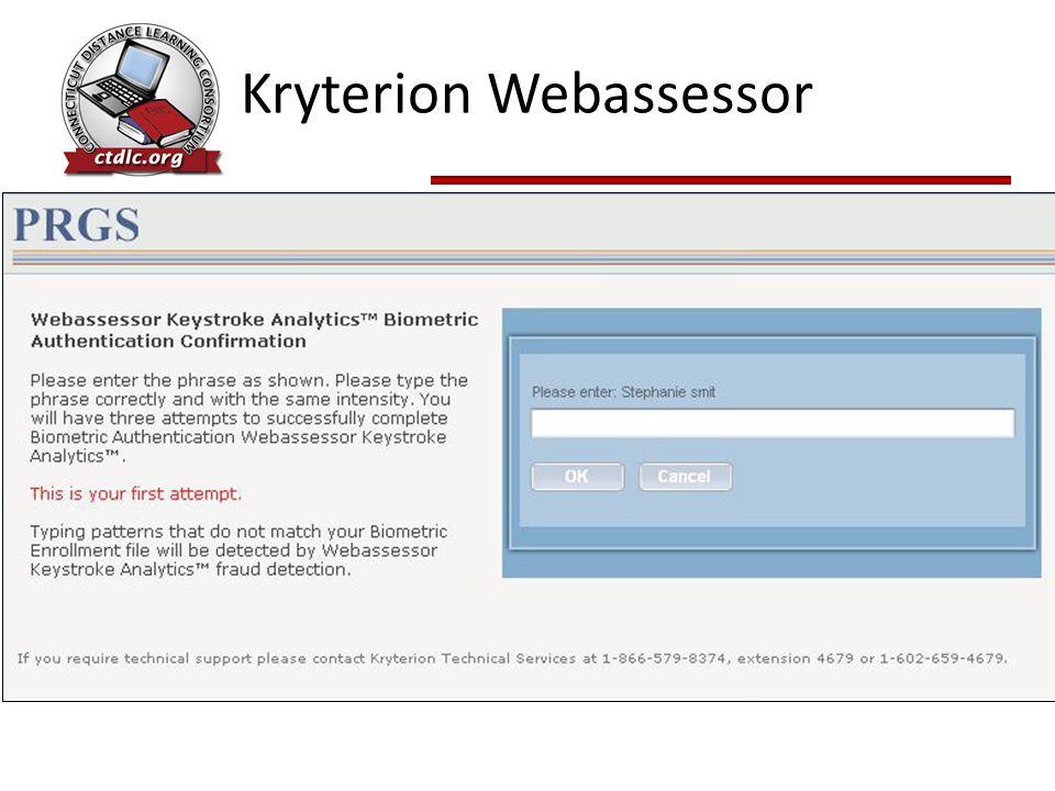 Kryterion Webassessor
