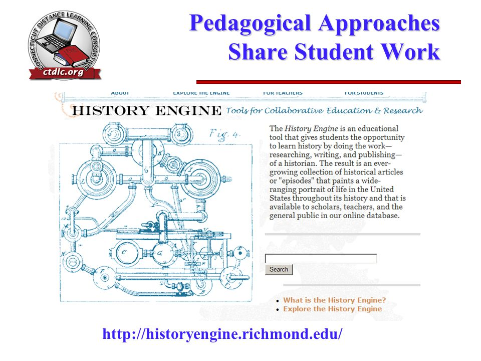 Pedagogical Approaches Share Student Work http://historyengine.richmond.edu/