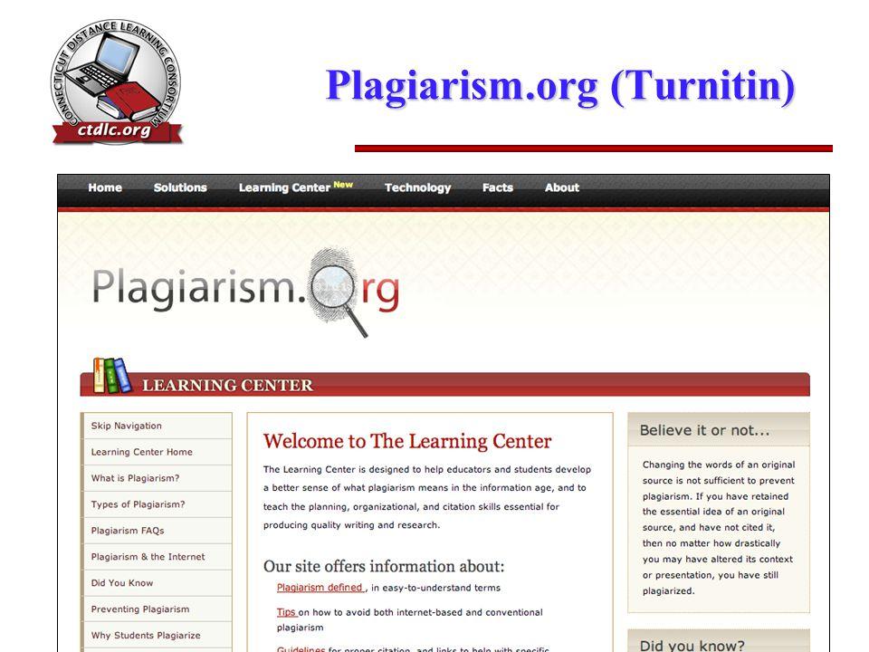 Plagiarism.org (Turnitin)