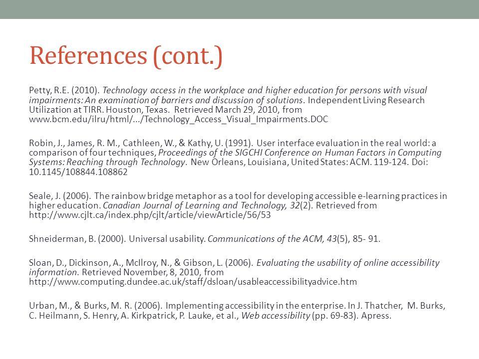 References (cont.) Petty, R.E.(2010).