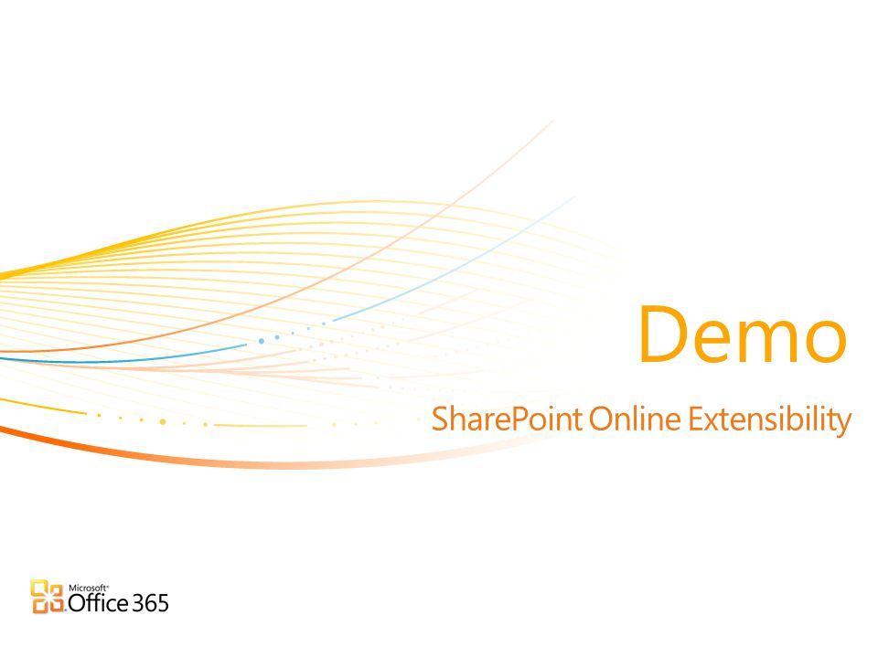 SharePoint Online Extensibility Demo