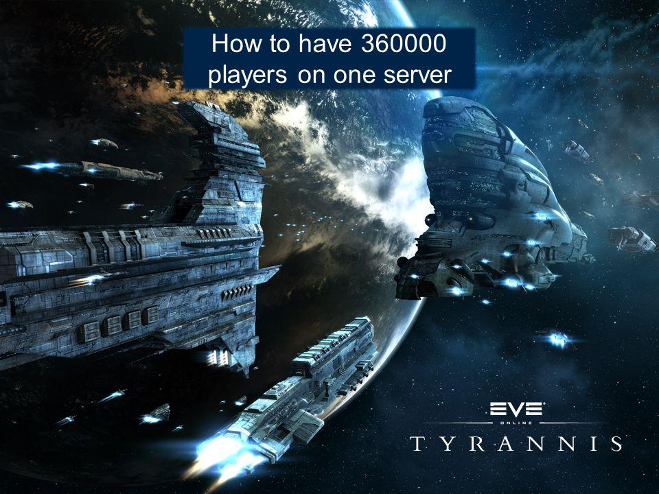 EVE demands an enterprise level DB Microsoft SQL 2008 x64 (enterprise edition) IBM X-series 3850 M2 brick server 128 GB RAM 2 x CPU, each six-core at ?.