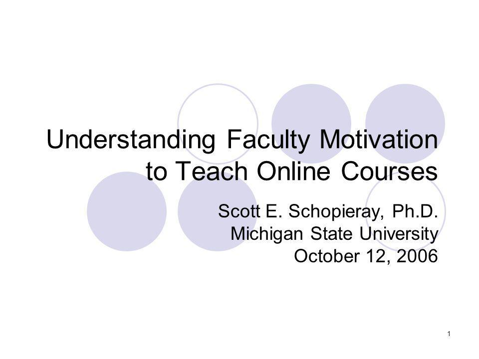2 Background In the United States, 65% of institutions offering graduate degrees also offer graduate level online courses.