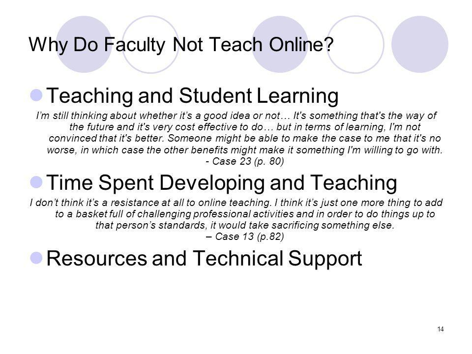 14 Why Do Faculty Not Teach Online.