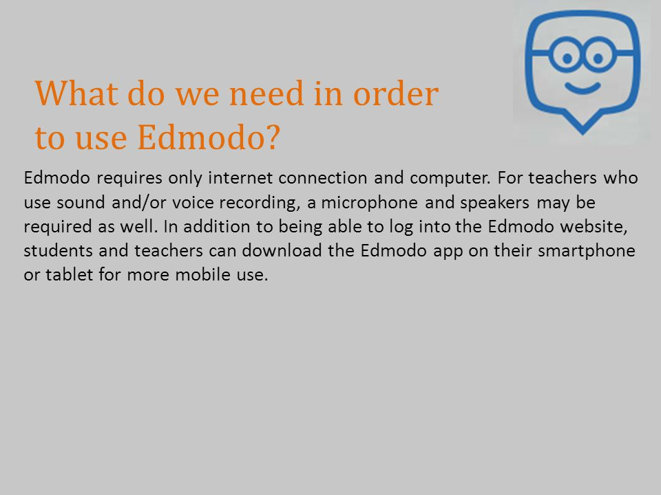 Is there evidentiary support for Edmodo.