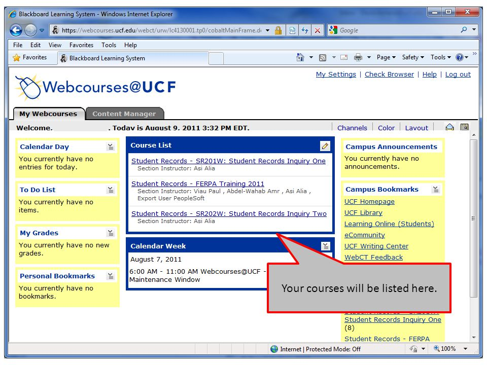 Your courses will be listed here.