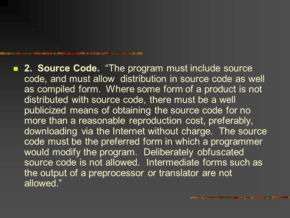 2. Source Code.