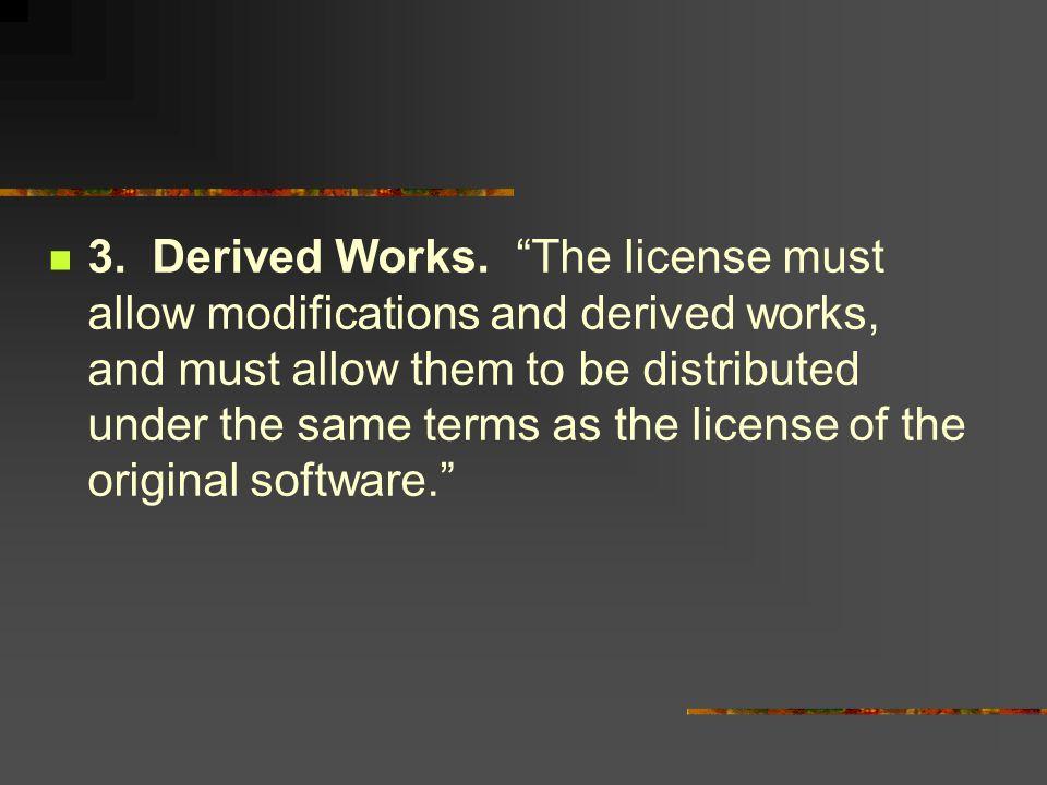 3. Derived Works.