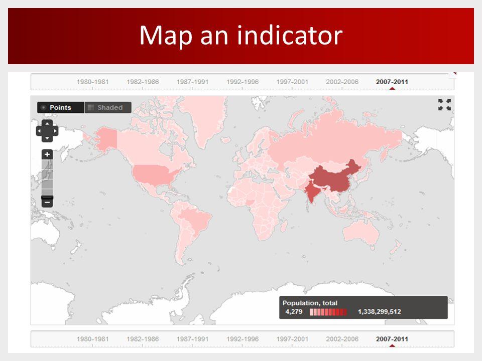 Map an indicator