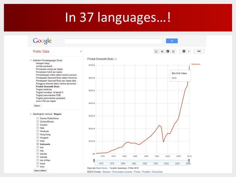 In 37 languages…!