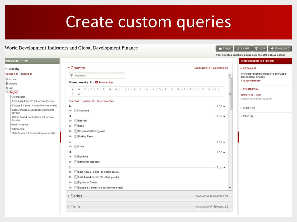 Create custom queries