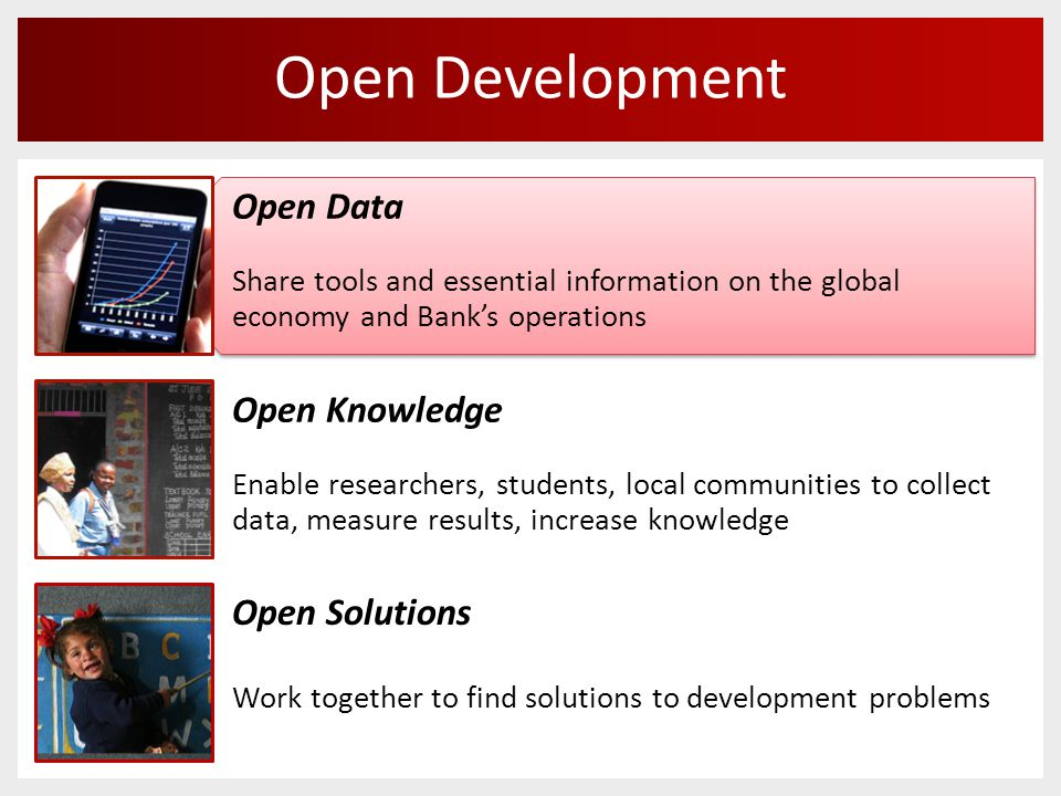 Data Portals Open Data API Widgets from the Data Visualizer Widgets from the DataBank