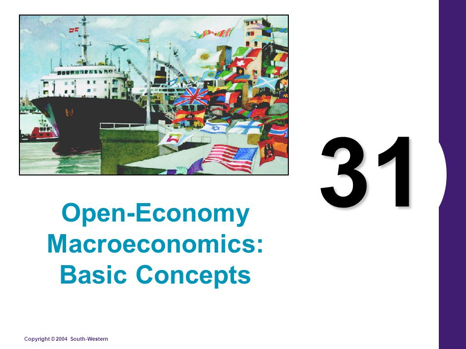 Copyright © 2004 South-Western Summary An economy's net capital outflow always equals its net exports.