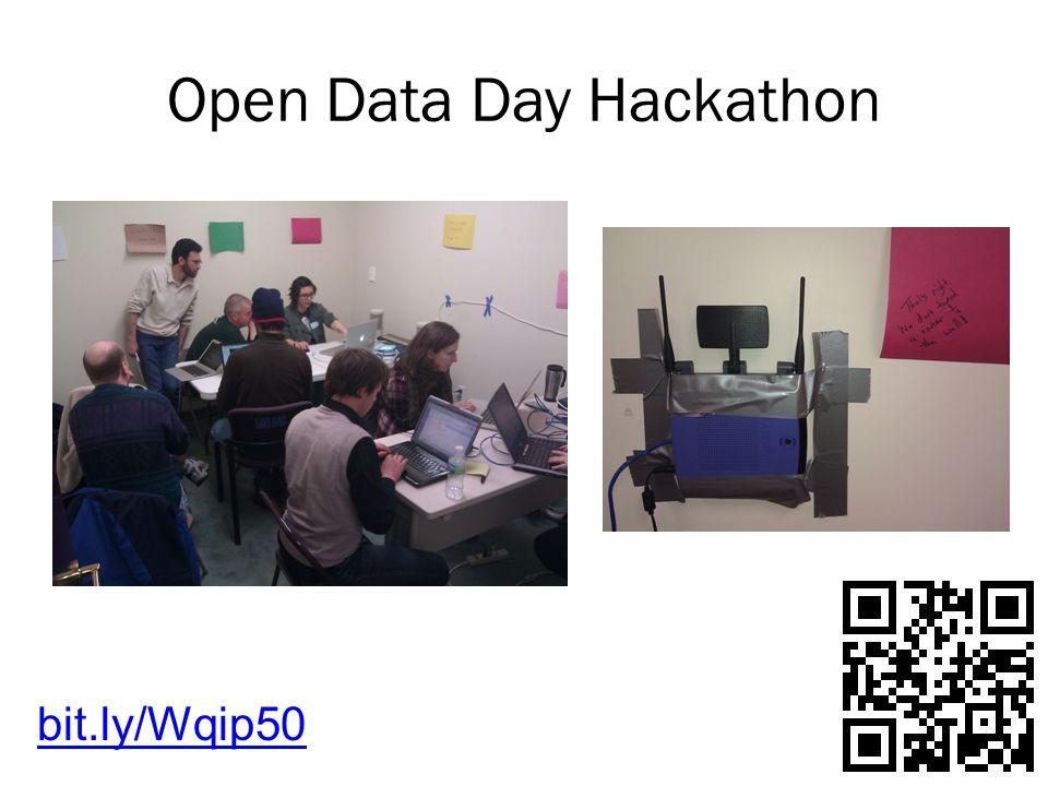 Open Data Day Hackathon bit.ly/Wqip50
