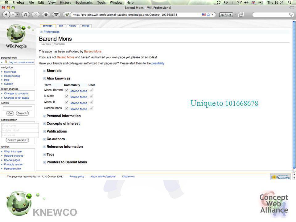 KNEWCO Unique to 101668678