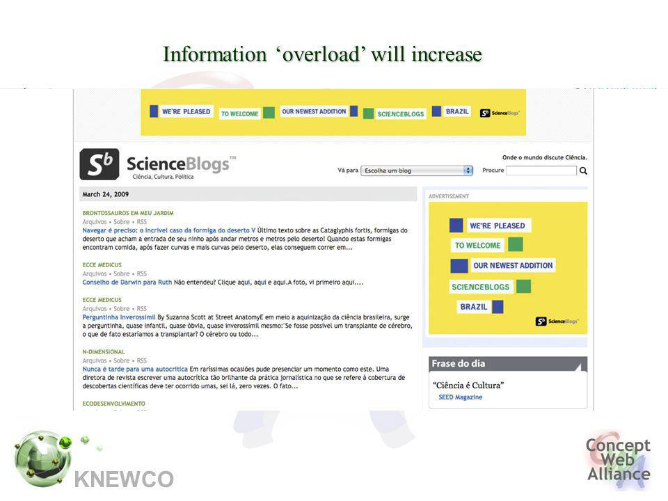 KNEWCO Information 'overload' will increase