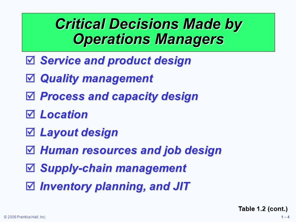 © 2006 Prentice Hall, Inc.1 – 5 Where are the OM Jobs? Figure 1.2