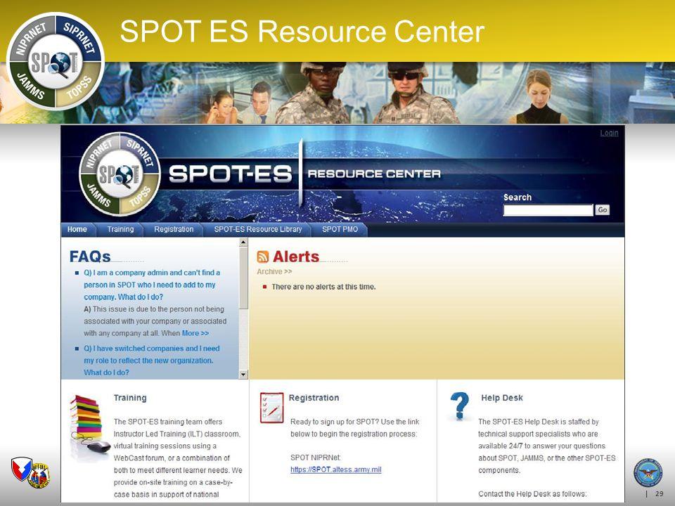 | 29 SPOT ES Resource Center