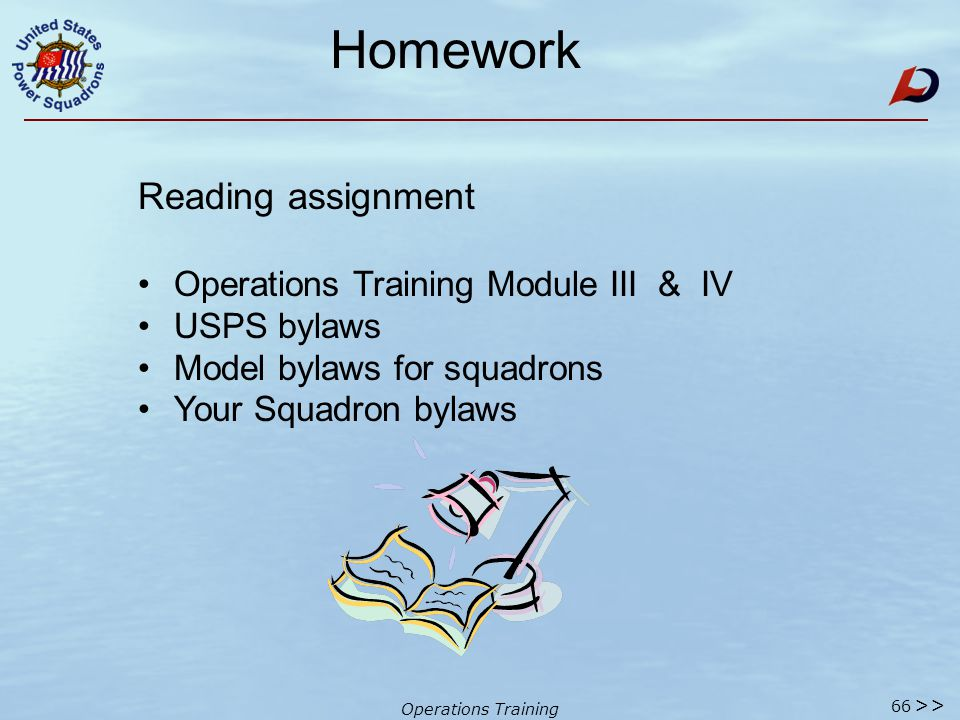Operations Training Summary Teaching those that follow  How people forget - remember Robert's Rules & Types of Motions Order of Business Conducting a Meeting Lesson 3 - Operations Training Program.