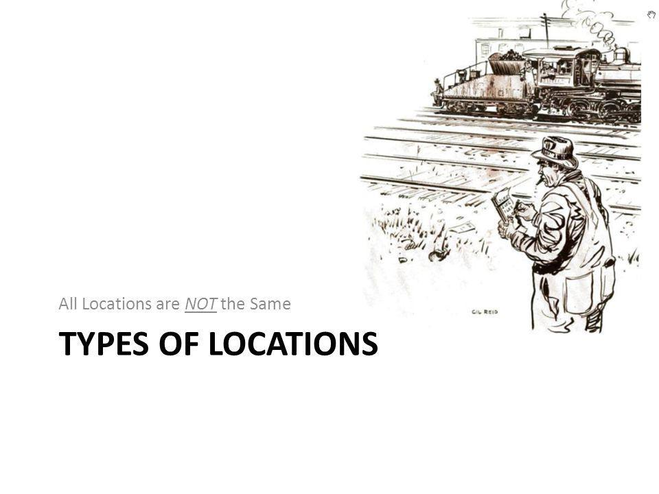 TYPES OF LOCATIONS All Locations are NOT the Same