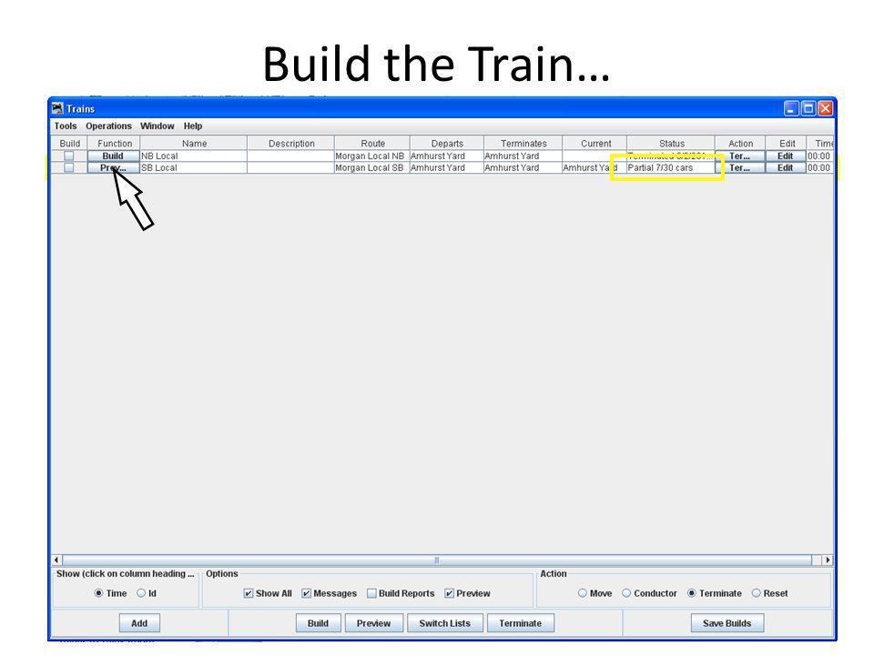Build the Train…