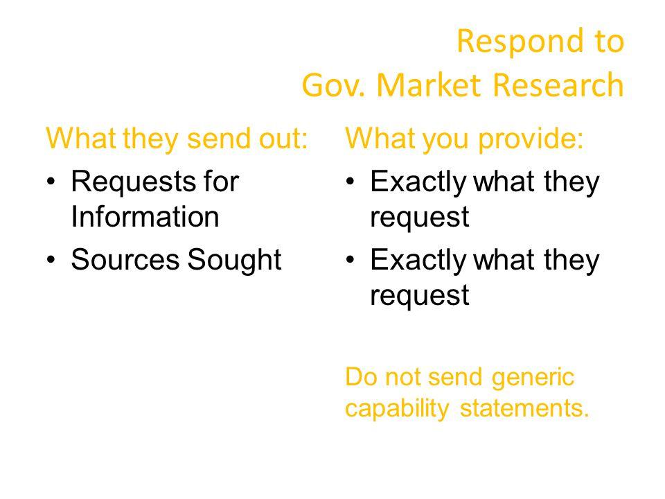 Respond to Gov.