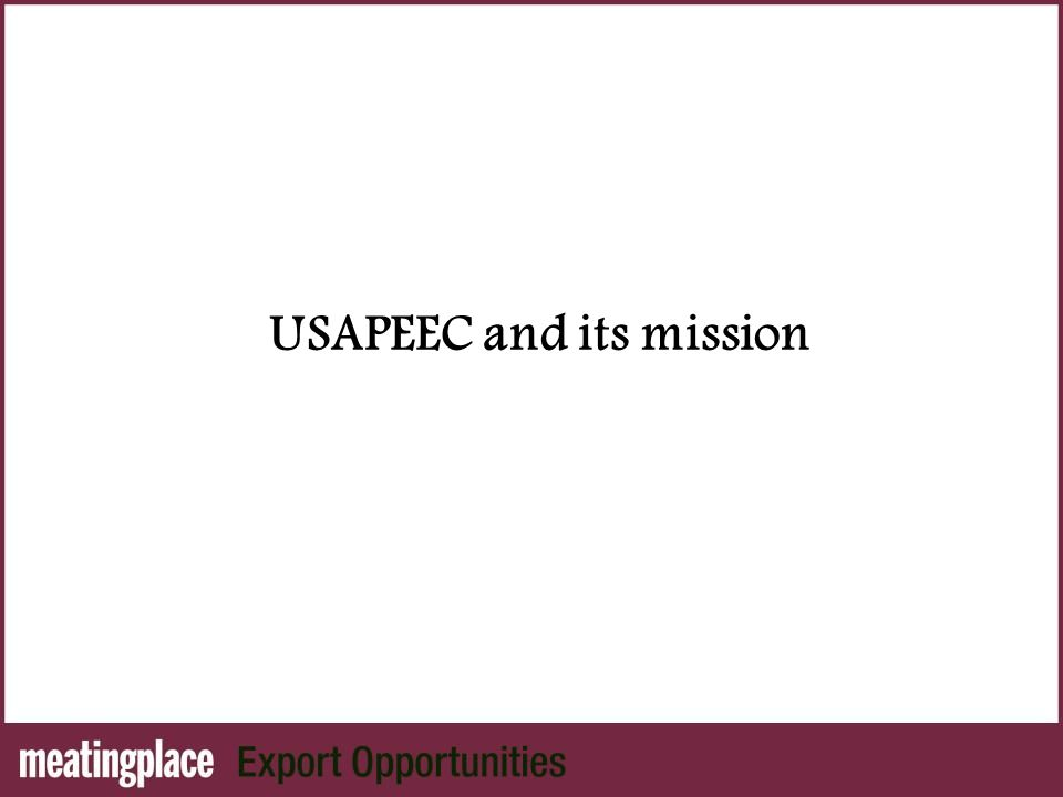 USAPEEC and its mission