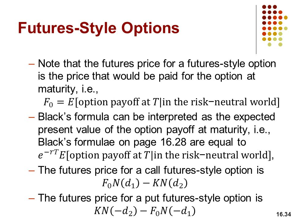 Futures-Style Options 16.34