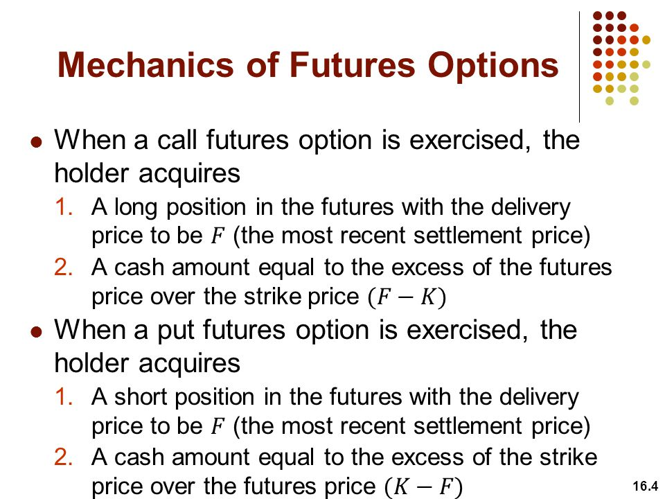 Mechanics of Futures Options 16.4
