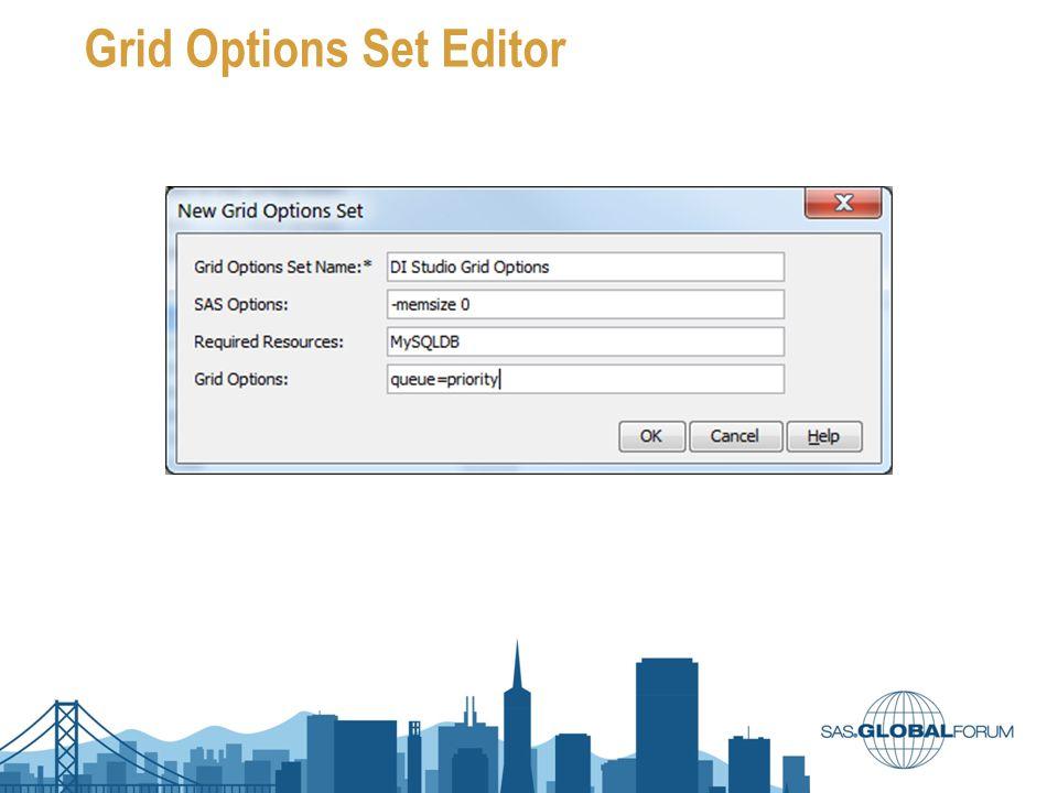 Grid Options Set Editor