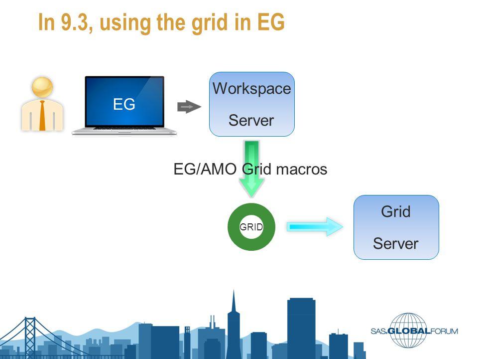 In 9.3, using the grid in EG EG Workspace Server GRID Grid Server EG/AMO Grid macros