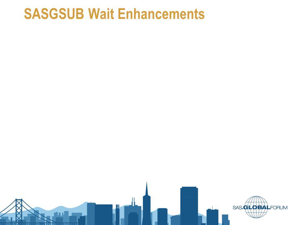 SASGSUB Wait Enhancements