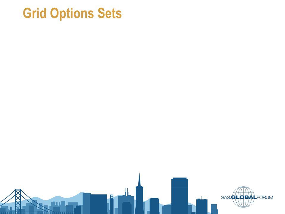 Grid Options Sets
