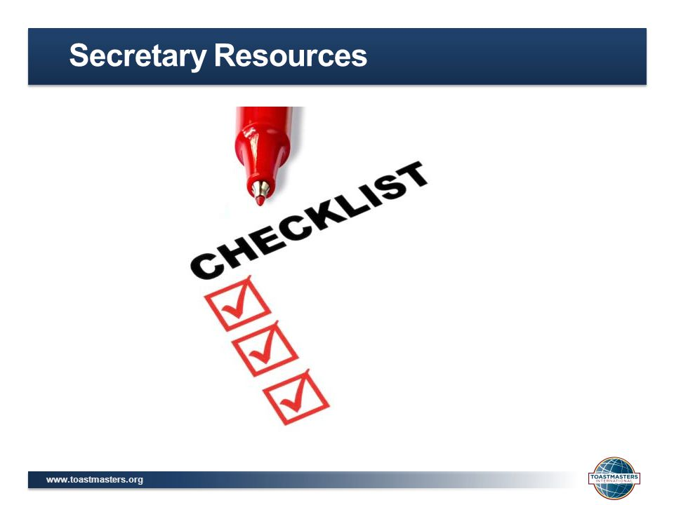 Secretary Resources
