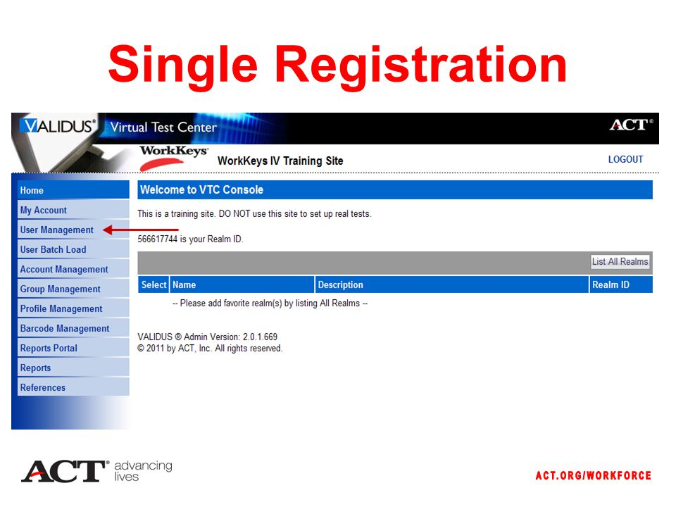 Single Registration