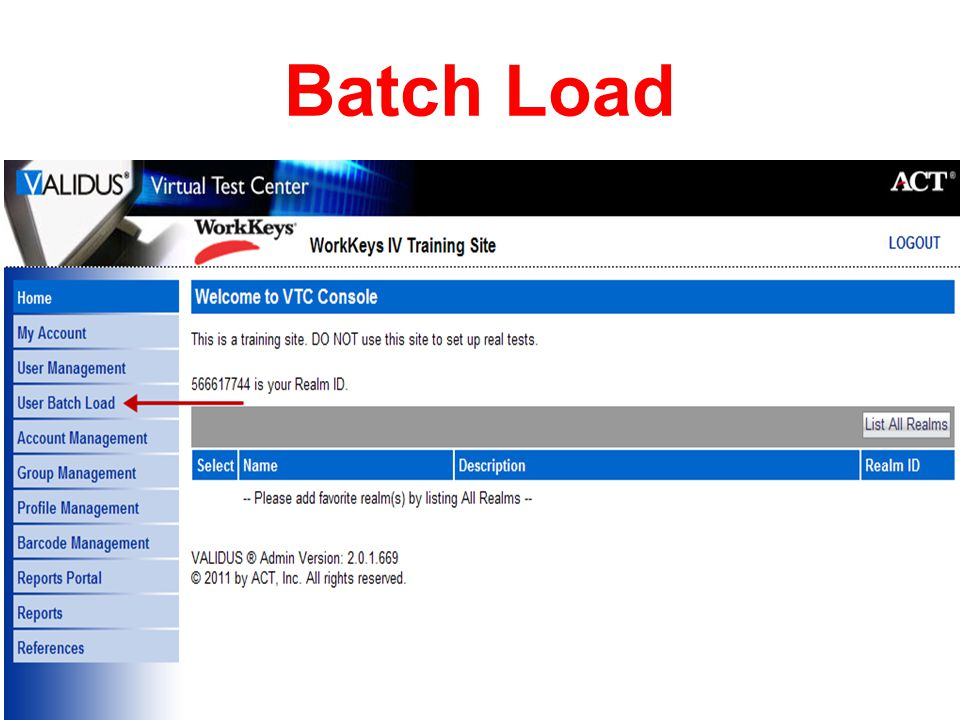 Batch Load