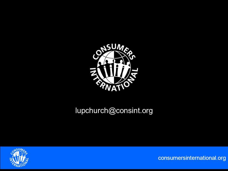 consumersinternational.org lupchurch@consint.org