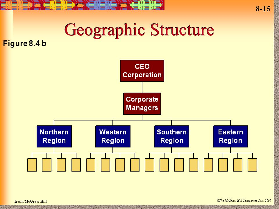 8-15 Irwin/McGraw-Hill ©The McGraw-Hill Companies, Inc., 2000 Geographic Structure Figure 8.4 b