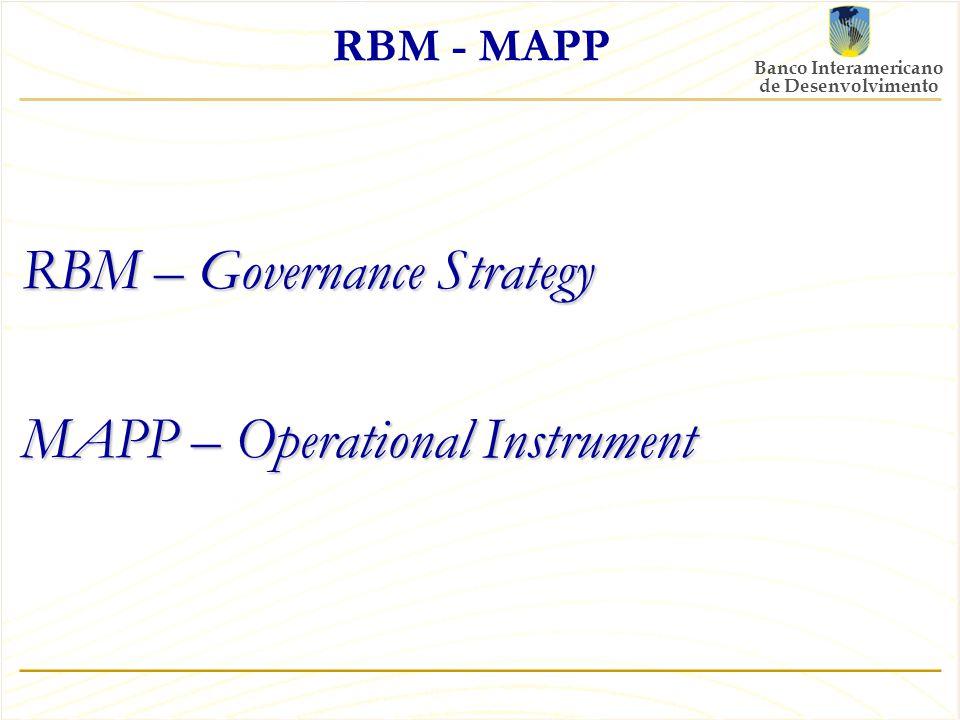 Banco Interamericano de Desenvolvimento RBM - MAPP RBM – Governance Strategy MAPP – Operational Instrument